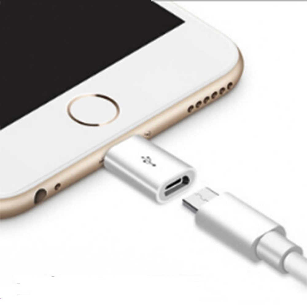 Alta qualidade micro usb para conversor adaptador para iphone x xs max xr 5 5S 6s plus para ipad 4 conector de ar carregador cabo