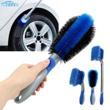 Spazzola per la pulizia dei pneumatici strumento combinato spazzola per ruote per auto autolavaggio multifunzionale strumento per lavaggio auto polvere per auto