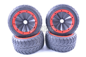 Super Grip Strong Wear-Resistant Sealed Wheel Hub On-Road Tire for 1/5 Scale ROFUN ROVAN KM HPI BAJA 5B