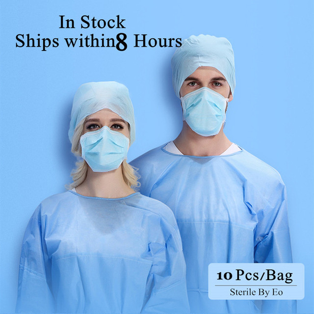 20-100 Pcs Anti-Flu Medical Surgical Mouth Masks Disposable Anti Bacterial Dust 3 Ply Filter Protective Medical Face Masks