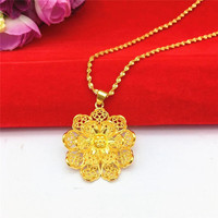 Elegant 14K Gold Necklace for Women's Wedding Engagement Statement Jewelry Delicate Lotus Leaf Pendant Jewelry Gifts Not Fade