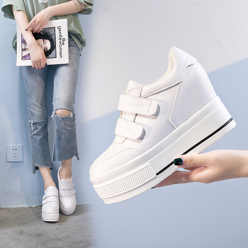 Tleni 2019 Summer New Net Cloth Breathable Ladies Platform Sports Shoes Large Size 34-39 Women's Sneakers ZD-17