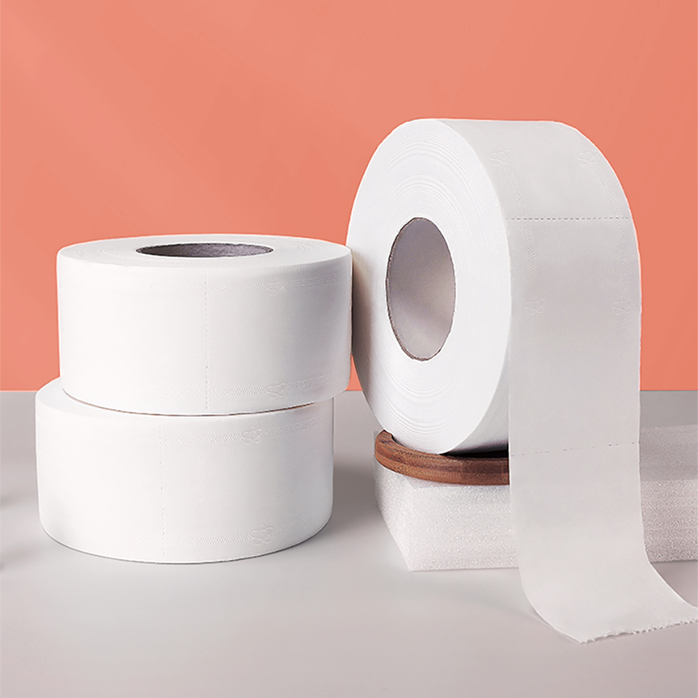 Toilet Paper 4 Layers Thick Soft Toilet Tissue Paper Bathroom Supplies Home Rolling Paper Native Wood Pulp Toilet Paper Roll