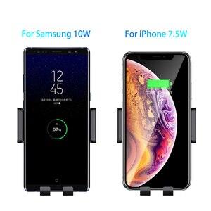 Image 3 - הידוק אוטומטי אלחוטי מטען לרכב הר 10W 7.5W Qi טעינה מהירה אוויר Vent טלפון מחזיק עבור iPhone X סמסונג Xiaomi Huawei
