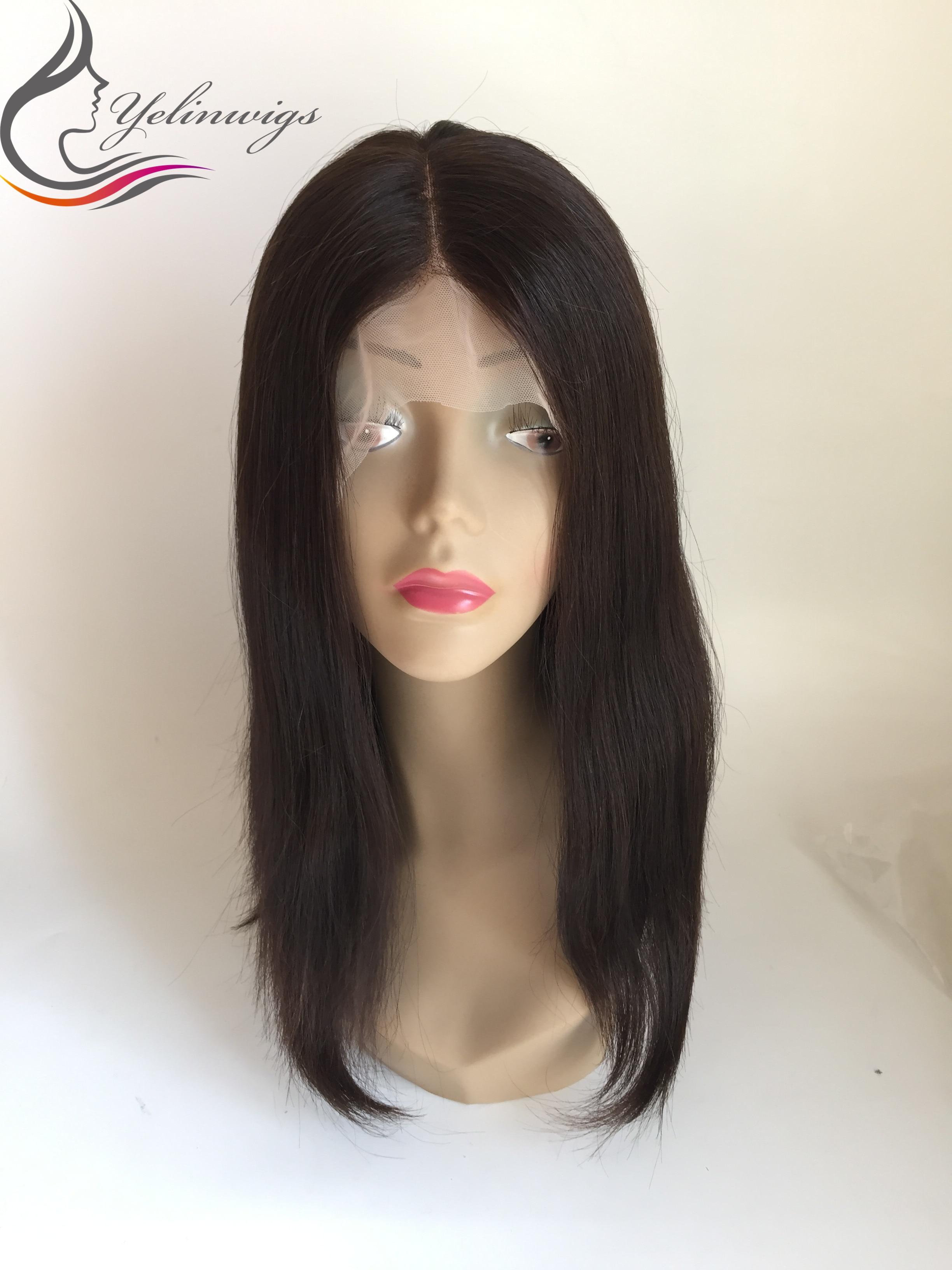 Yelin Wig 100% European Virgin Hair Lace Top Jewish Wig Kosher Wig Lace Top Wigs Free Shipping