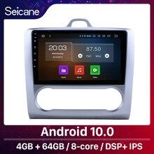 "Seicane 10.1 ""אנדרואיד 10.0 GPS רכב רדיו עבור 2004 2005 2006 2007 2011 פורד פוקוס 2 Quad core/אוקטה ליבות Wifi מולטימדיה נגן"