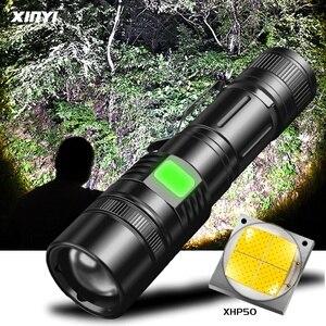 60000lm poderosa lanterna led xhp50 lanterna led usb recarregável tocha zoom 5 modo lanterna use18650/26650 bateria
