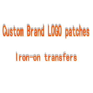 DIY Custom LOGO Patch Iron-On Transfers Heat Transfers PVC Patch For Clothes DIY Thermal Transfer Hot Vinyl Iron Sticker(China)