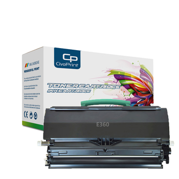 Civoprint 9000 pages Compatible black toner cartridge E360 with chip E360 for Lexmark E360H11A printer