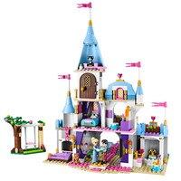 697 шт. + Романтический замок Золушки принцесса друг строительные блоки для девочек Наборы игрушек совместимы с Legoinglys Friends кирпичи