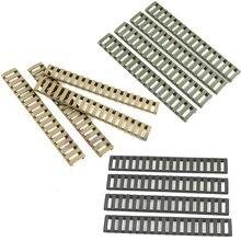 4 Stuks Rail Covers Plastic Visgraten Ladder Vorm 3 Kleuren Rifle Handguard Hittebestendige Ladder Rubber Picatinny Rail Covers