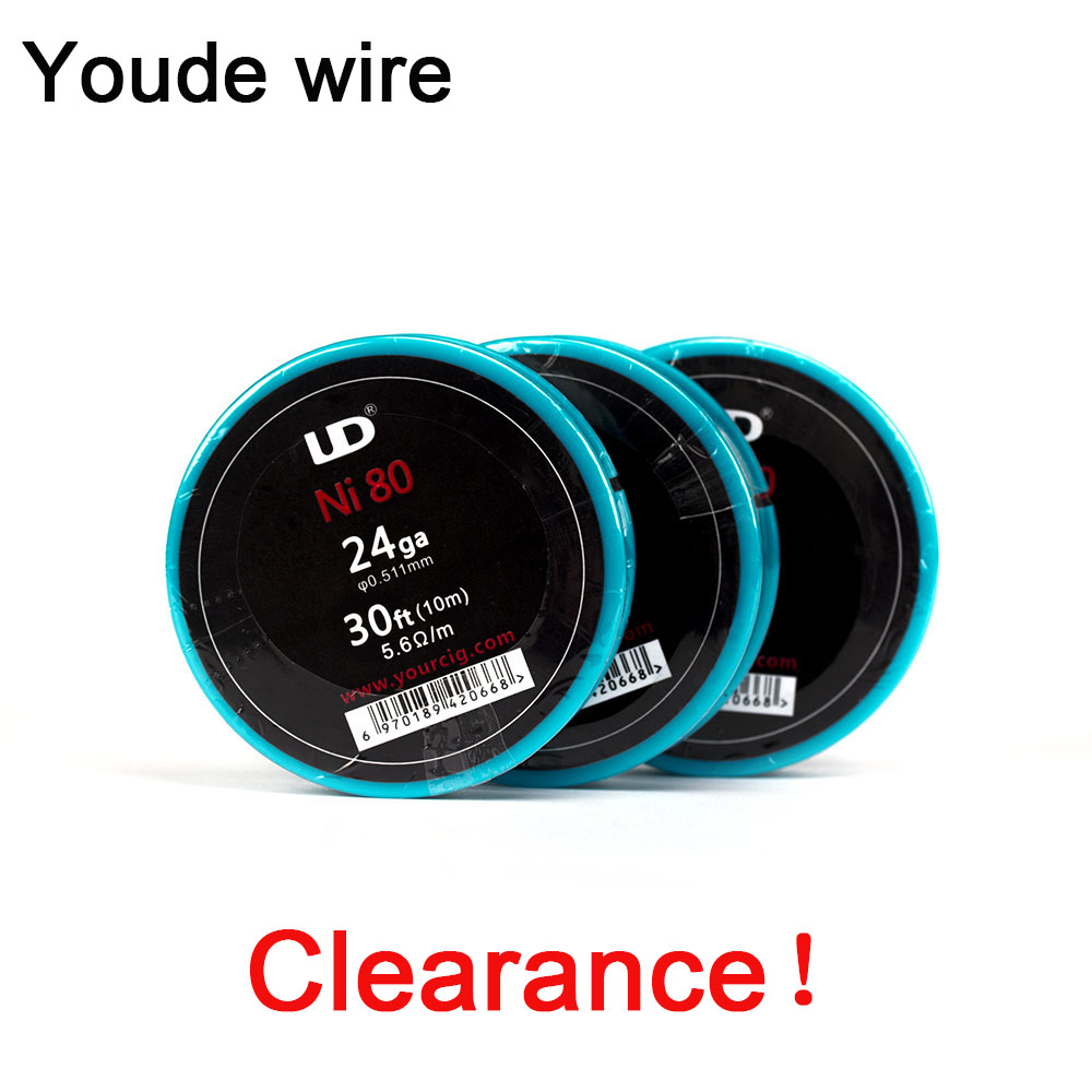 Clearance! Original Youde UD Kanthal / Nichrome/ Nickel Wire With 28ga 26ga 24ga (10m/roll) For Atomizer DIY Heating Coil