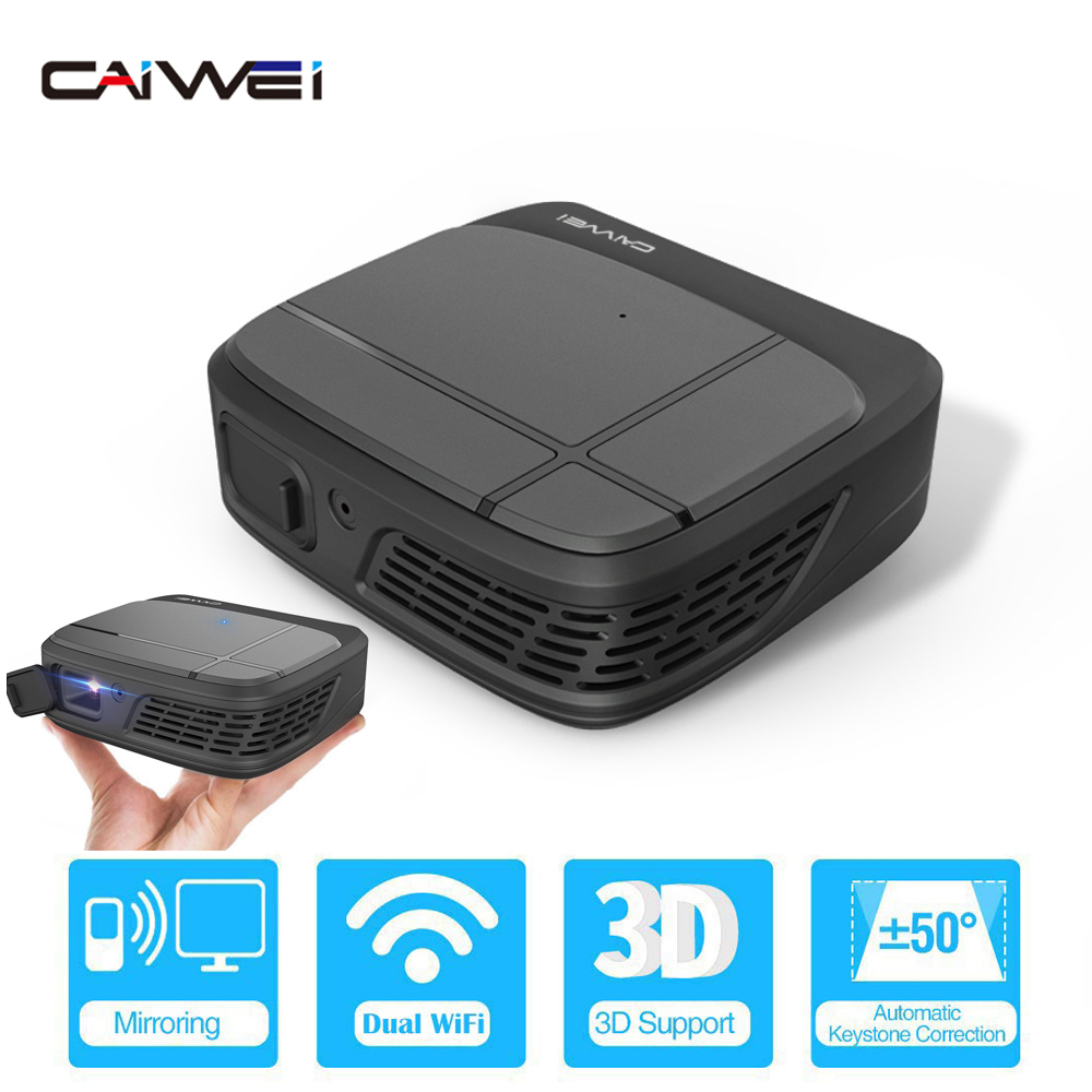 Portátil inteligente cinema de cinema em casa wifi dlp mini 3d hd led bolso projetor vídeo usb para completo hd 1080 p beamer tela sem fio