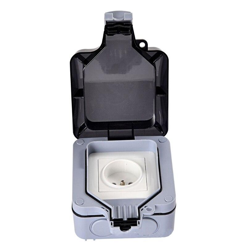 Купить внешняя защита ip66 с 1 слотом для настенного гнезда пыленепроницаемая