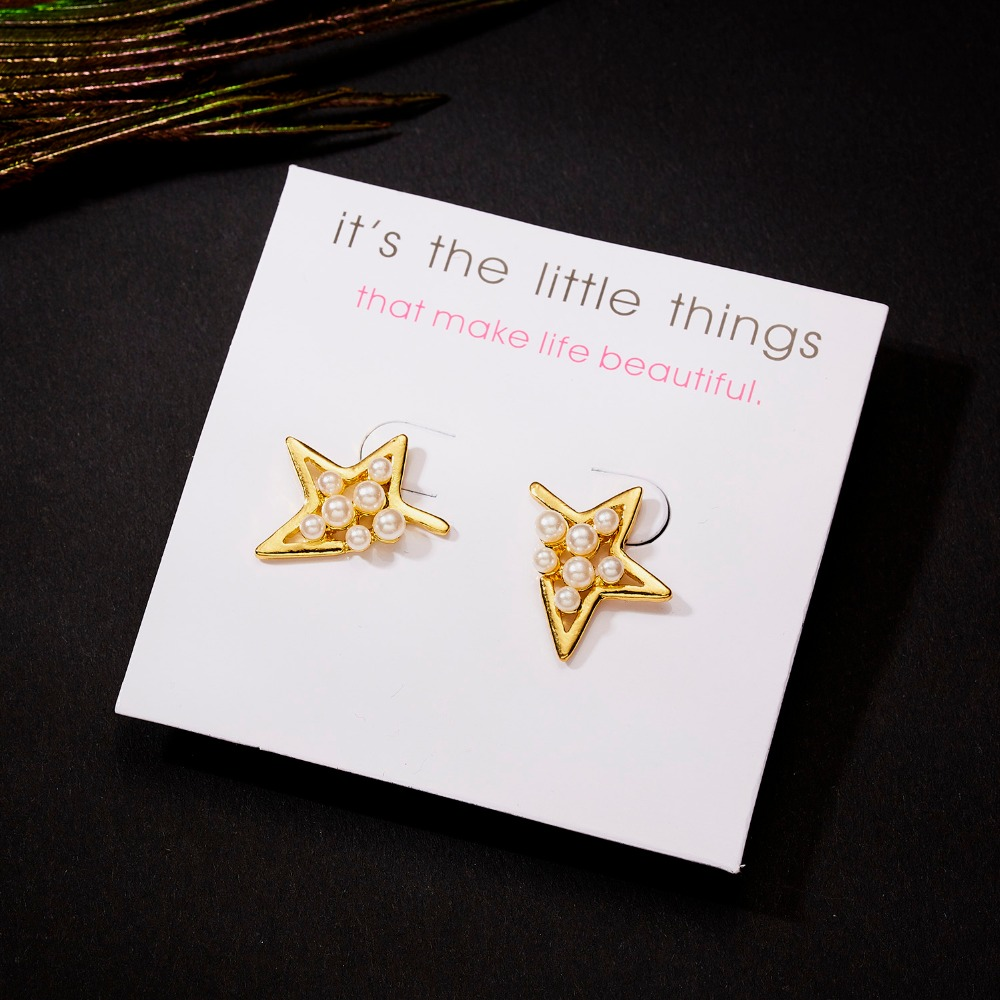 12 Pairs/set Stud Earrings Set With Card Transparent Zircon Balls Love Flowers Earrings Women Imulated Pearl Earrings Jewelry 102