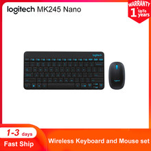 Logitech MK245 Nano Wireless Keyboard Mouse Combo Compact 2.4GHz Technology Plug And Play Classic Simple Keyboards Mice Set