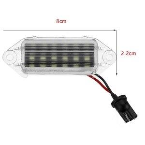 2 шт. безотказные светодиодные лампы для номерного знака 18Smd белый светодиодный светильник для номерного знака для Mitsubishi Lancer X Evo 2003-2017