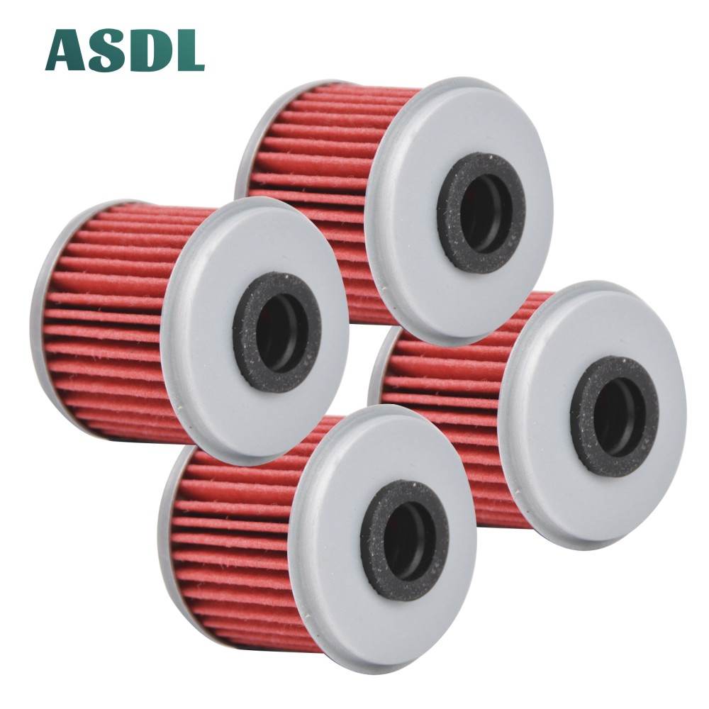 4PCs Engine Oil Filters For Honda CRF250R CRF250X CRF450R CRF450X CRF150R TRX450R TRX450ER CRF 150 250 450 R X CRF250 CRF450 #a