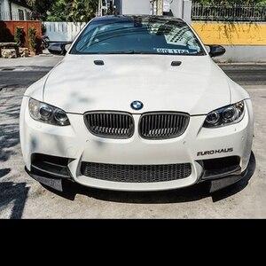 Image 5 - Front Bumper Lip Splitters Flaps for BMW 3 Series E92 E90 E93 Real M3 Sedan Coupe Convertible 2007   2013 Carbon Fiber / FRP