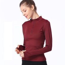 Yoga Shirt Women Long Sleeve Sports T Fitness Clothing Running Shirts Quick Dry Wear for