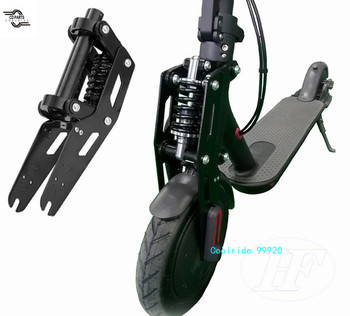 Electric Scooter Front Wheel Shock Absorber for Xiaomi M365/Pro Front Fork Shock Absorber New Black Modified Accessories scooter front suspension fork for xiaomi mijia m365 mi m365 pro electric scooter for max g30 front tube shock absorption parts