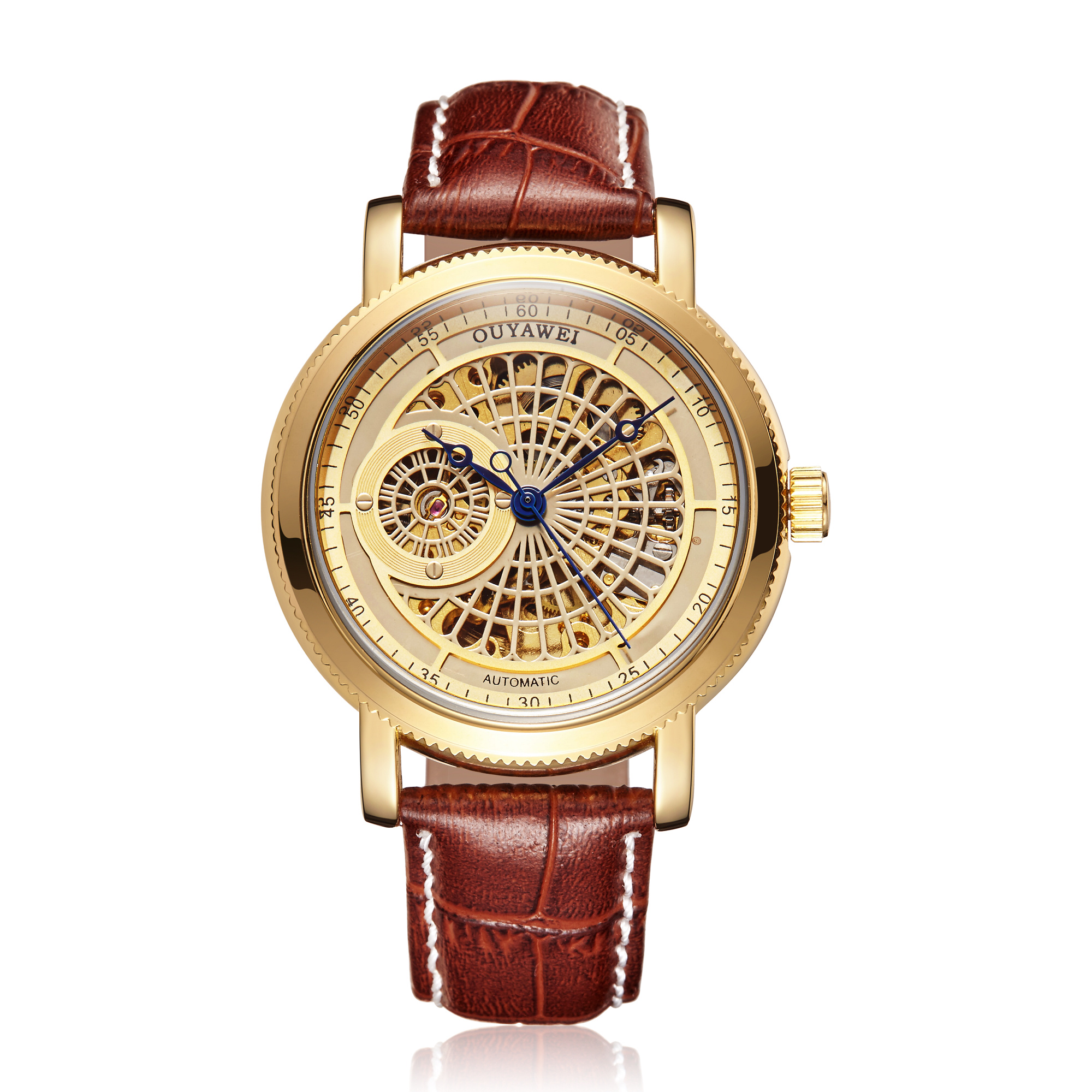 Hee040ad5fbe5433bbea3e80e6e31c499a Mechanical Gold Watch Luxury Brand Self-winding