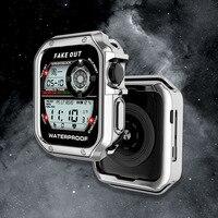 TUP-funda protectora para Apple Watch SE, carcasa de 38mm y 42mm para Apple Watch Series 6, 5, 4, 3, iWatch de 40mm y 44mm