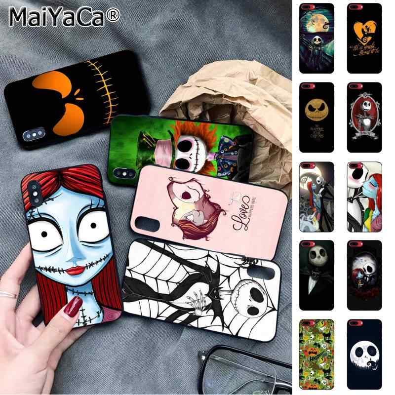 MaiYaCa The nightmare before christmas di sally Halloween FAI DA TE Cassa del telefono di Lusso per il iphone 11 pro XS MAX 8 7 6 6S Plus X 5 5S SE XR