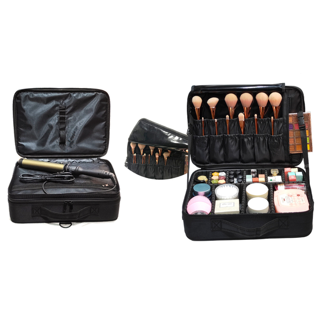 New Upgrade Large Capacity Cosmetic Bag Hot-selling Professinal Women Travel Makeup Case 2