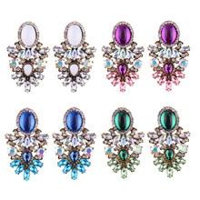 Женские серьги-капли с большими кристаллами в стиле бохо, модные ювелирные изделия, женские индийские Стразы, этнические свадебные серьги-подвески