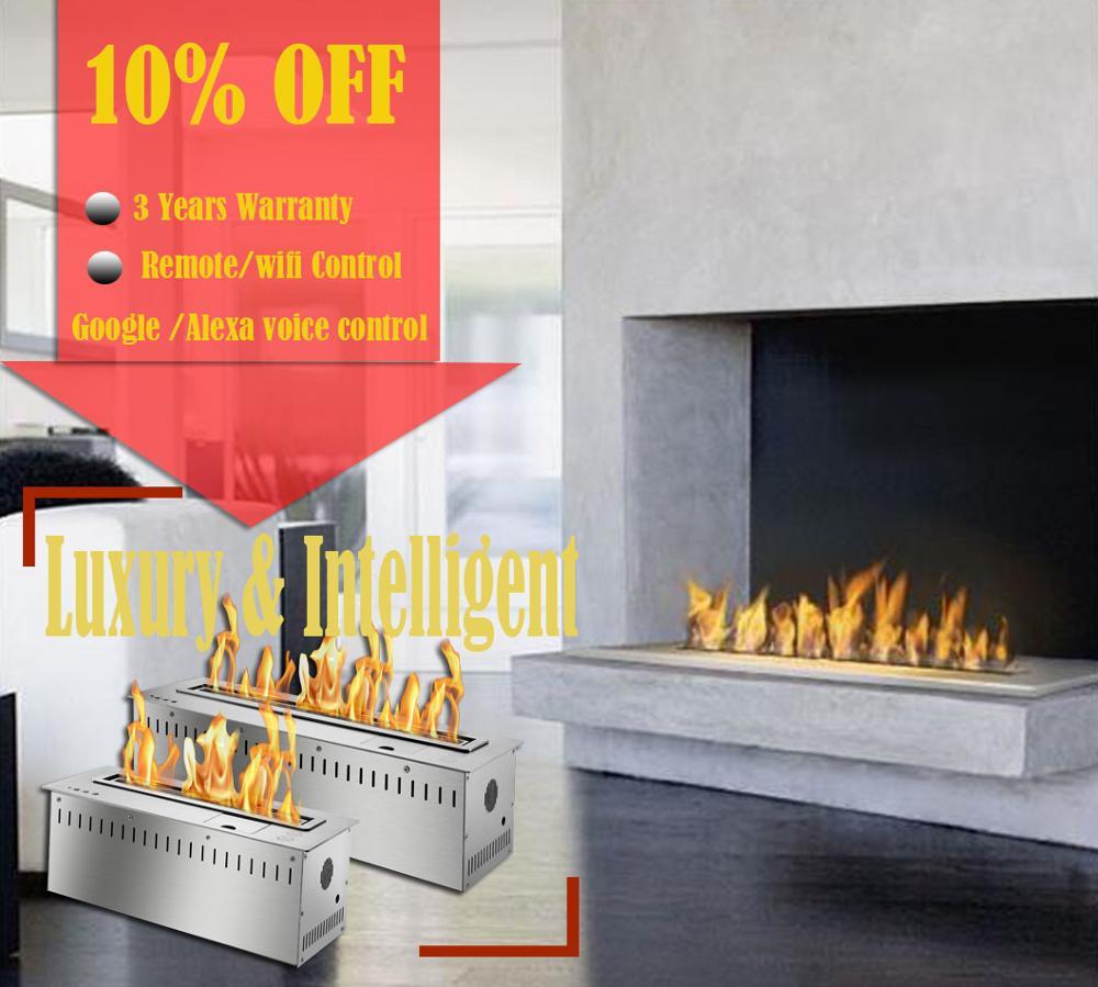 On Sale  18 Inch Modern Fireplace Ethanol Ventless Remote Burner Insert