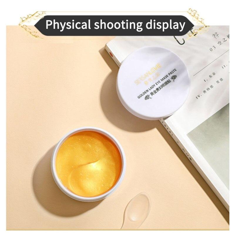60pcs 24K Gold Crystal Collagen Eye Patches Anti Wrinkle Gel Sleep Eye Mask Remove Dark Circles Eye Bag Moisturizing Skin Care-1