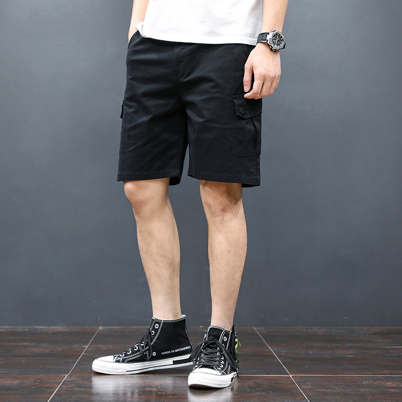 2019 Summer New Style Elasticity Short Knee-length Denim Shorts Men Korean-style Casual Ban Ku Men's Slim Fit Denim Shorts