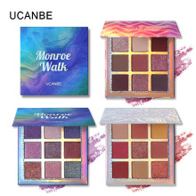 3pcs/lot UCANBE Cosmetic 9 Colors Glitter Eyeshadow Palette Shimmer Eye Shadow Set Matte Palette Make Up Pallete new brand 9 color pigmento eye shadow palette professional shimmer matte eyeshadow make up palette maquiagem