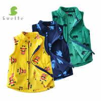 SVELTE pour printemps automne hiver enfants garçons polaire Gilet mode enfants laine imprime Gilet Vetement Enfant Gilet Veste