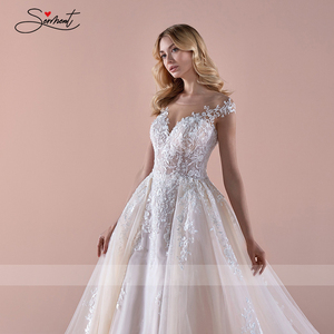 Image 5 - BAZIIINGAAA  Luxury Wedding Dress Dream Lace Long sleeved Wedding Dress with Luxurious Decals Beads Support Tailor made