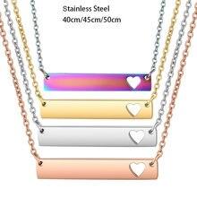 3 шт/лот ожерелье с зеркальной полировкой пустая подвеска в