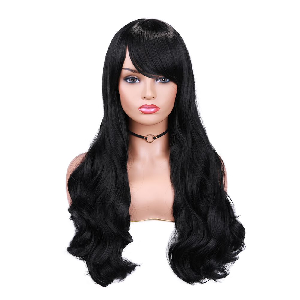 para perucas longas femininas com franja cosplay