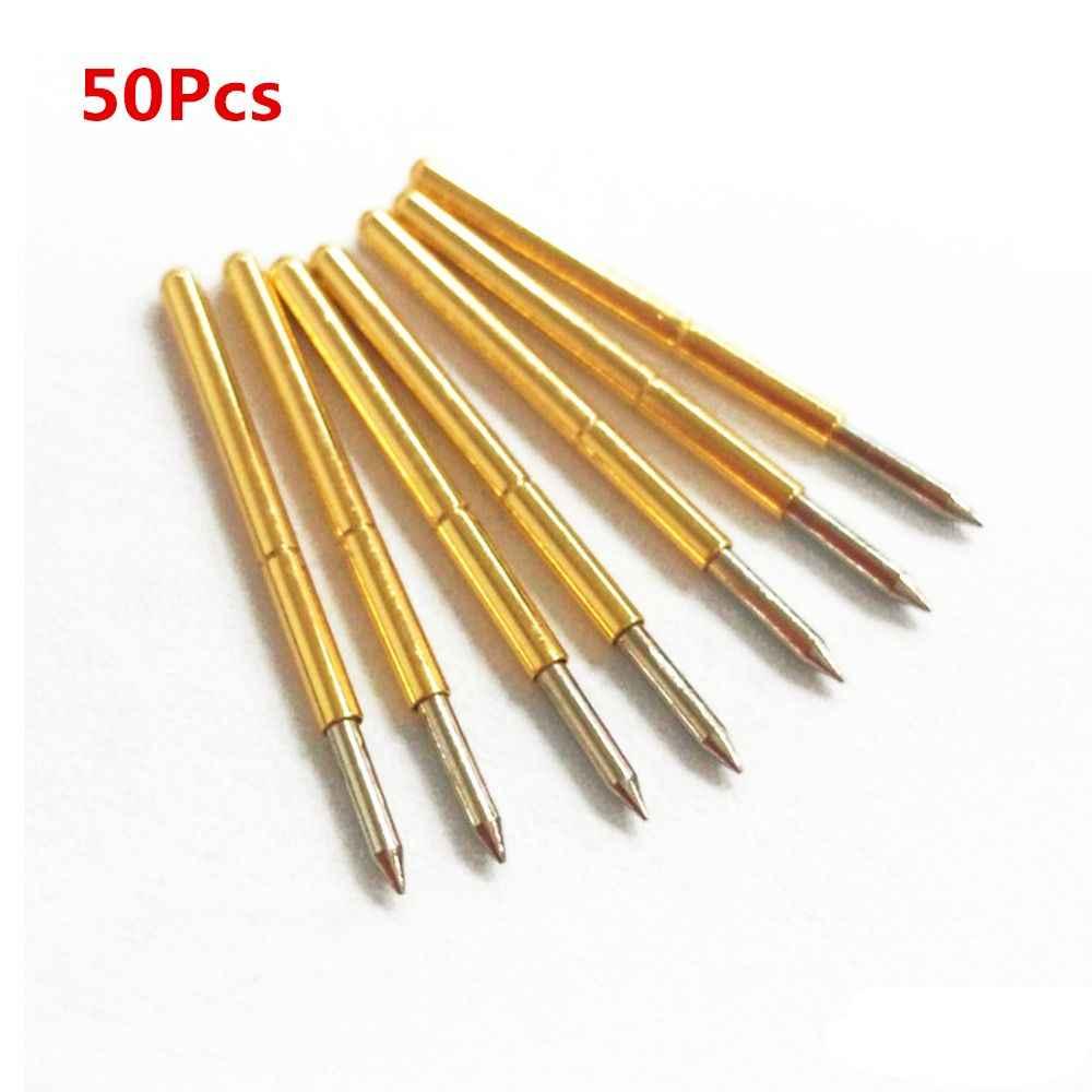 50pcs P75-B1 DIA 1.02mm 100G Cusp Spear ฤดูใบไม้ผลิโหลดทดสอบ Probes Pogo Pin