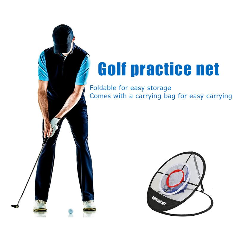 Nylon Golf Batting Practice Net With Handbag Foldable Ball Chipping Pitching Cage Nets Outdoor Golf Training Aids Supplies
