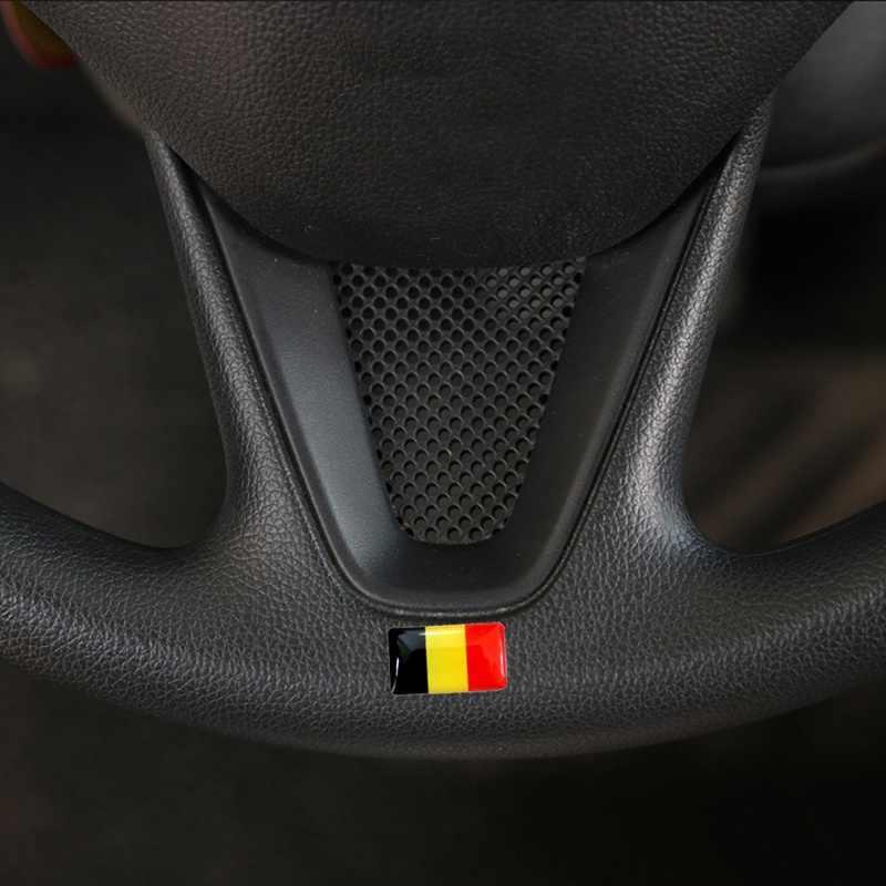 4 pçs/set Escudo Etiqueta Do Carro Bandeira Do Carro-styling 3D Russo Espanha França Alemanha Nacional Emblema Decoração Do Carro Acessórios