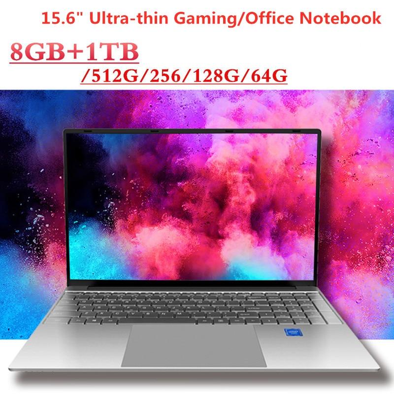 "15.6"" Ultra-thin IPS Laptop Intel Core I3-5005U DDR3 8G+1024G M.2 SSD Windows 10 64-bit 1920x1080 Bluetooth4.0 WiFi Notebook"