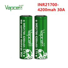 Vapcell inr original 21700 4200 mah 30a 3.7 v bateria recarregável molicel p42a para baterias de lítio lanterna