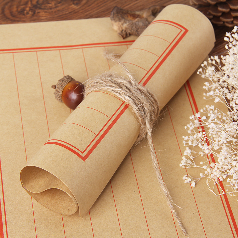 New Products Mu Guang 10-Retro Chinese-style Kraftpaper Writing Paper Letter Set Retro Writing Paper Customizable