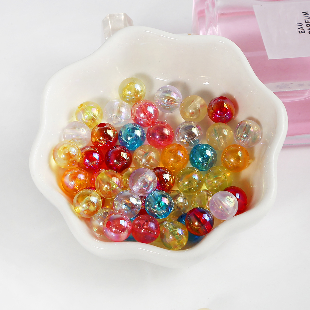 100pcs Fashion Bayberry Beads Loose Spacer Beads Beads for DIY Headwear Crafts