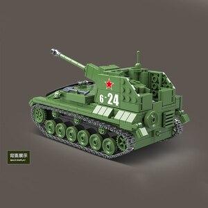 Image 5 - 601 adet askeri sovyetler birliği SU 76M tankı yapı taşları askeri Tank blokları içinde ordu asker silah tuğla kitleri eğitim oyuncaklar