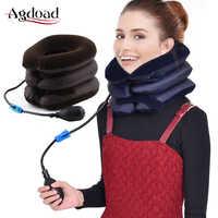 Neck Traktor Aufblasbare Luft Zervikale Ansatz Traktion Gerät Hals Unterstützung Kragen Halswirbel Orthopädie Massage Hals Entspannung Klammer