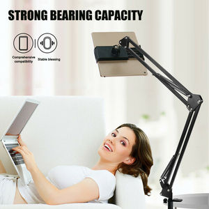 1PcFlexible Long Arm Mobile phone tablet stand holder For iPad Mini Air iPhone Xiaomi Huawei Lazy Bed Desktop Clip Metal Bracket