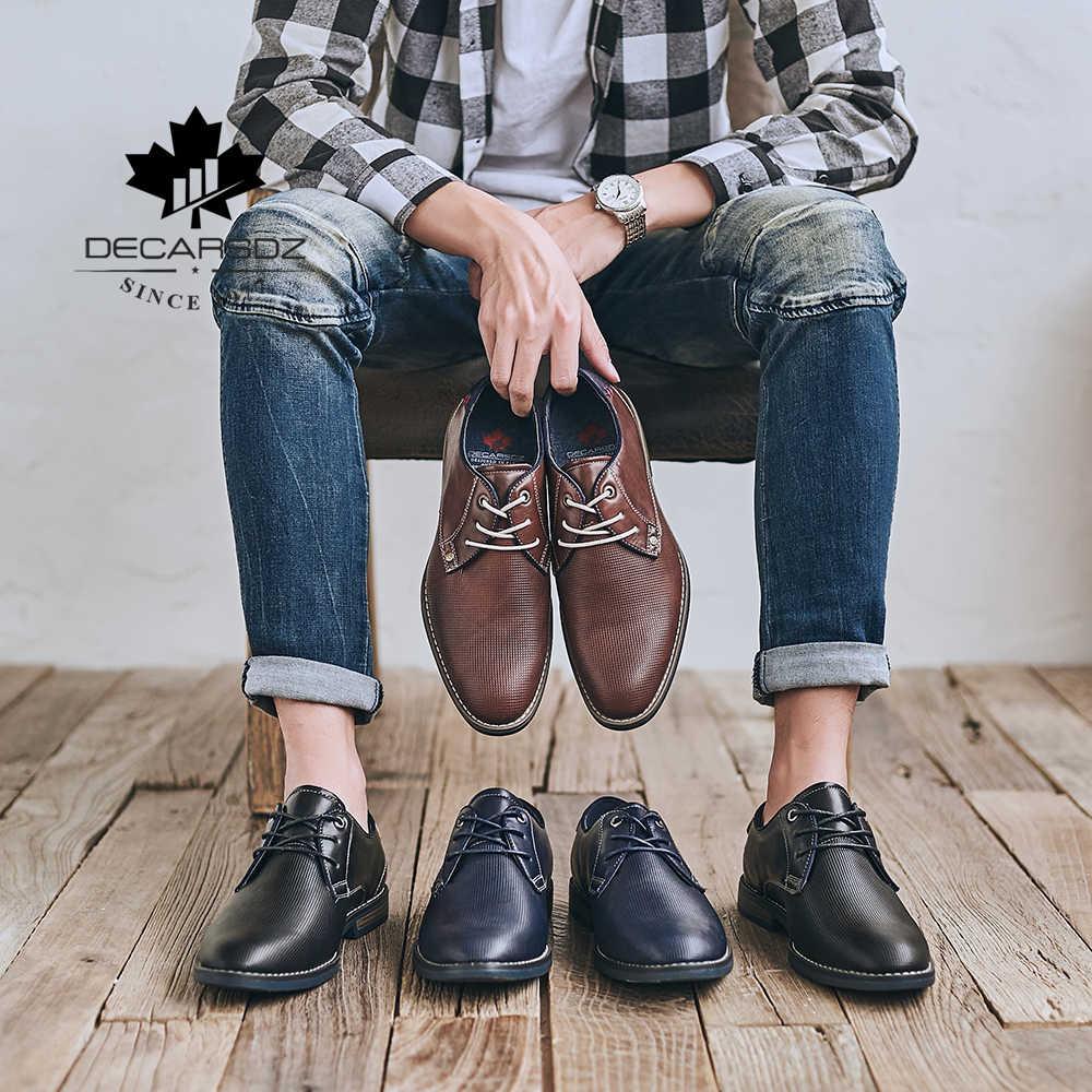 Gündelik erkek ayakkabısı 2019 marka kovboy sokak ayakkabı erkekler ofis rahat eğlence ayakkabı yeni yüksek kaliteli deri moda erkek ayakkabıları