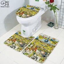Религиозная художественная живопись 3d Печатный коврик для ванной